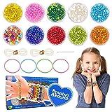 Kit Bracelet d'Amitié pour Filles Cadeau, Cadeaux d'anniversaire pour Filles 7 8 9 10 Bracelets Kit Perles Artisanat Jouet 6 7 8 Ans Fille Enfant Bricolage Fabrication Bijoux Filles 7-12 Adolescent