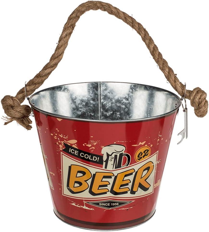 Rétro Metal Bucket New sales Indefinitely Beer