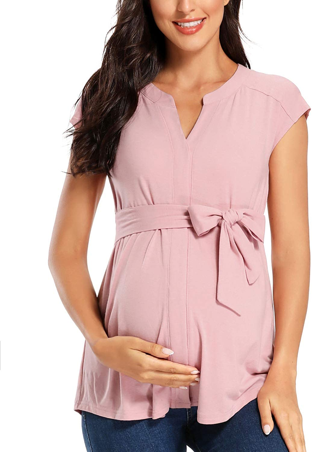 Glampunch Maternity Tops V Neck Limited price SleeveLong Sleeve Ca Ranking TOP1 Tunic