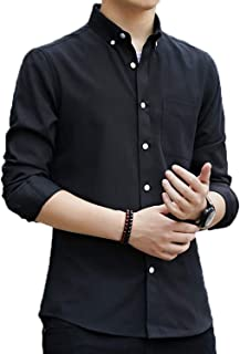 FLYSHION メンズ シャツ 長袖 半袖 オックスフォード シャツ カジュアル シャツ ビジネス 無地 コットン 春 秋 冬 シャツ