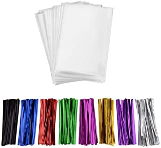 200 Pcs 7 in x 5 in Clear Flat Cello Cellophane Treat Bags(1.4mil) Good for Bakery, Cookies, Candies,Dessert.