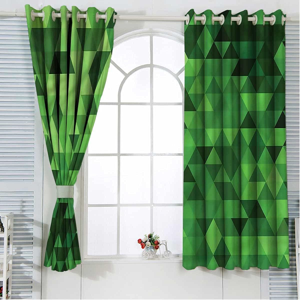 Jade Green Blackout Curtain Panels 2 Albuquerque Mall 108 SALENEW very popular! Inch Polygon Length Set