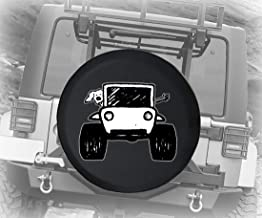 Spare Tire Cover Paw Print Dog Lover The Wave Offroad 4x4 (Fits: Jeep Wrangler Accessories, Camper, RV Accessories) Size