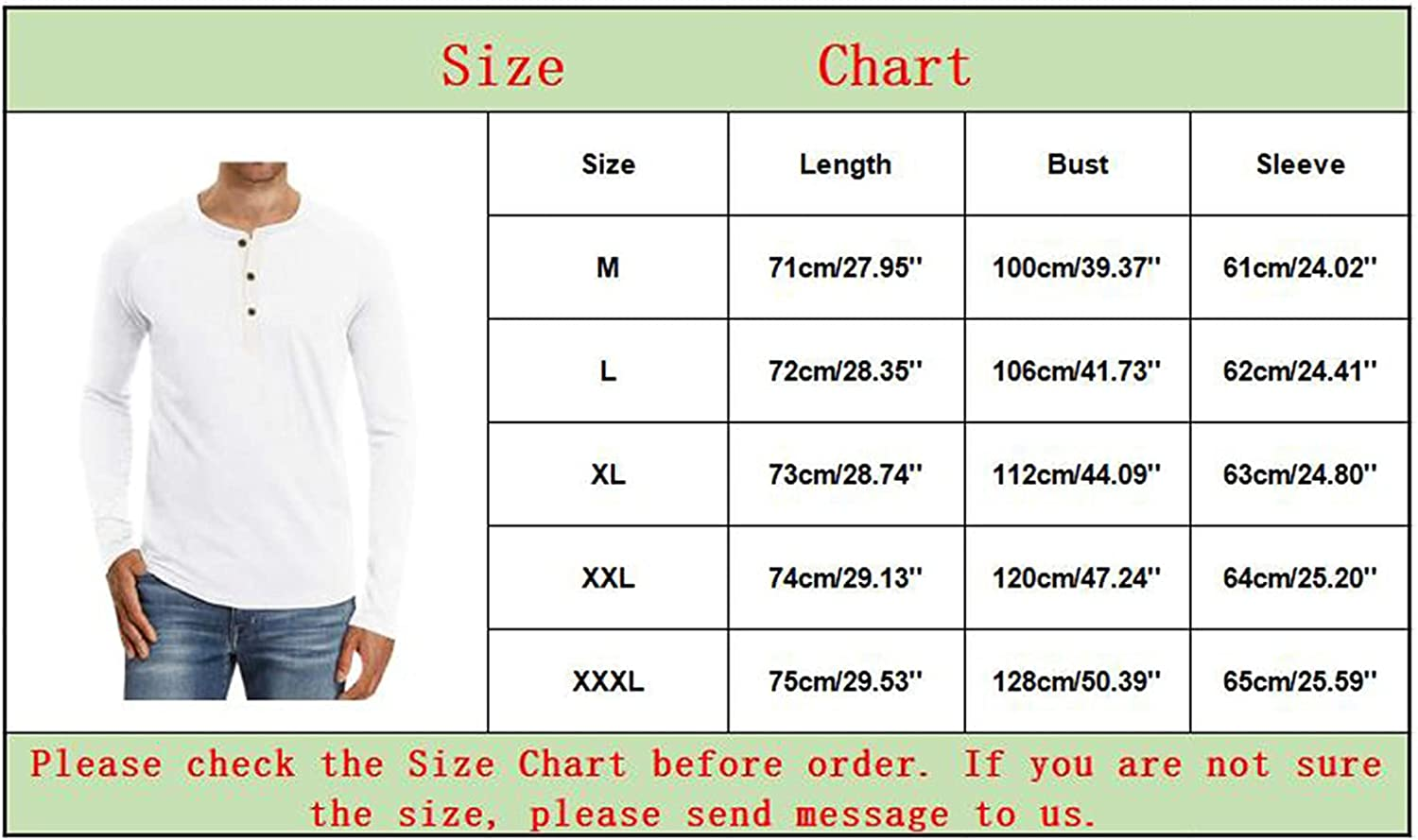 WOCACHI Basic Henley T-Shirts For Mens, Fall Men's Button Long Sleeve Front Placket Shirts Casual Slim Fit Tops
