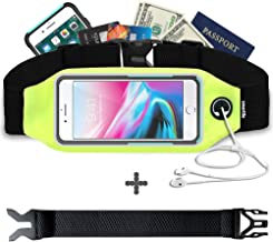 smartlle Fanny pack, Running belt, Waist bag for Women & Men for iPhone XS Max, XR, XS/X, 8/7/6s Plus, 8/7/6/SE, Samsung Galaxy S10/S9/S8 Plus/Note, Moto, with cases on. Gym Workout Fitness Gear-Green