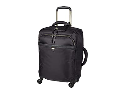 Lipault Paris Spinner 55/20 Carry-On (Jet Black/Light Gold) Bags