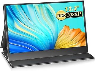 モバイルモニター 13.3インチ 1920x1080FHD モバイルディスプレイ USB Type-C/mini HDMI/PS4 XBOX スイッチ用モニター