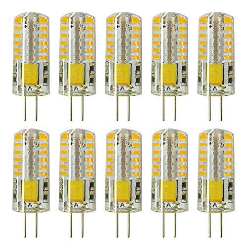 Rayhoo 10pcs G4 LED Bulb Bi-Pin Base Light Bulb Lamps 3W AC DC 12V Equivalent to 20W T3Halogen Track Bulb Replacement LED Bulbs(Warm White 2800-3200K)
