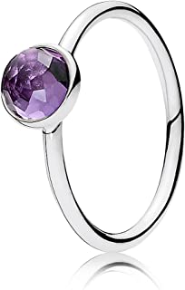 Pandora February Droplet Ring, Synthetic Amethyst, 5 US, 191012SAM-50