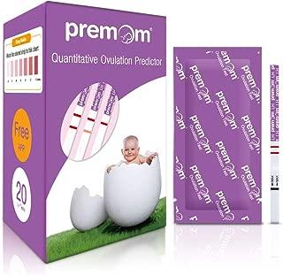 Premom Quantitative Ovulation Test Strips, Ovulation Predictor Kit with Smart Digital Ovulation Reader APP, Numerical Ovulation Tests, 20 LH Tests