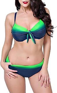 comprar comparacion PengGengA Mujer Bikini Bañadores Push Up Tallas Grandes Traje De Baño con Aros