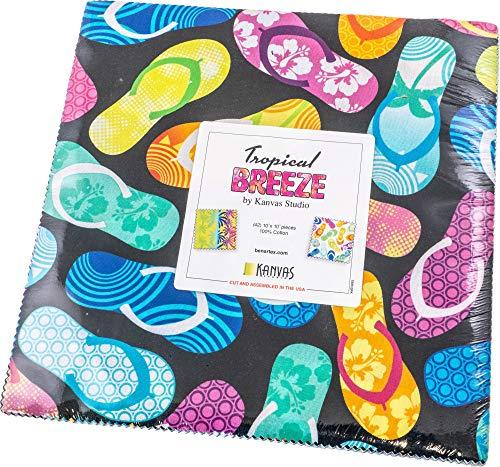 Kanvas Studio Tropical Breeze 10X10 Pack 42 10-inch Squares Layer Cake Benartex