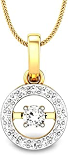 Candere by Kalyan Jewellers 18KT Gold and Diamond Pendant for Women