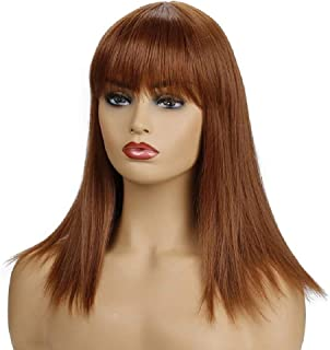 Hairpieces Hair Extension Wig Red Long Straight Hair Ladies Wig Synthetic Heat Straightening Hair Weave
