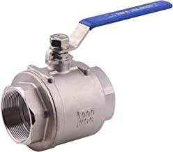 DERNORD Full Port Ball Valve Stainless Steel 304 Heavy Duty for Water, Oil, and Gas with Blue Locking Handles (3
