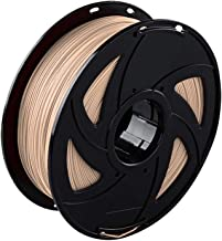 3D Printer Filaments PLA Looks Like Wood, Dimensional Accuracy +/- 0.02 mm, 1 kg Spool 1.75 mm for Printing, Wood Color