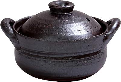 マルヨシ陶器(Maruyoshitouki) 土鍋 南蛮黒釉 4.5号 M7306