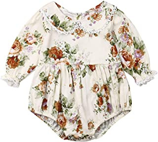Baby Girl Little Sister Long Sleeve Lace Floral Romper Bodysuit Big Sister Floral Dress Fall Winter Outfits