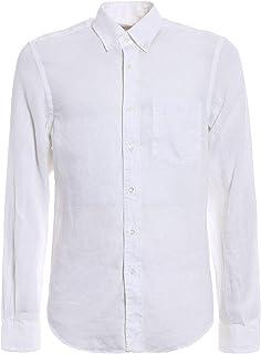 Aspesi メンズ CE14C19585072 ホワイト リネン シャツ