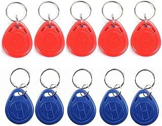 WINGONEER EM4100 125KHz RFID EM ID Card Tag Token Key Chain Keyfob Read Only - 10 Pcs