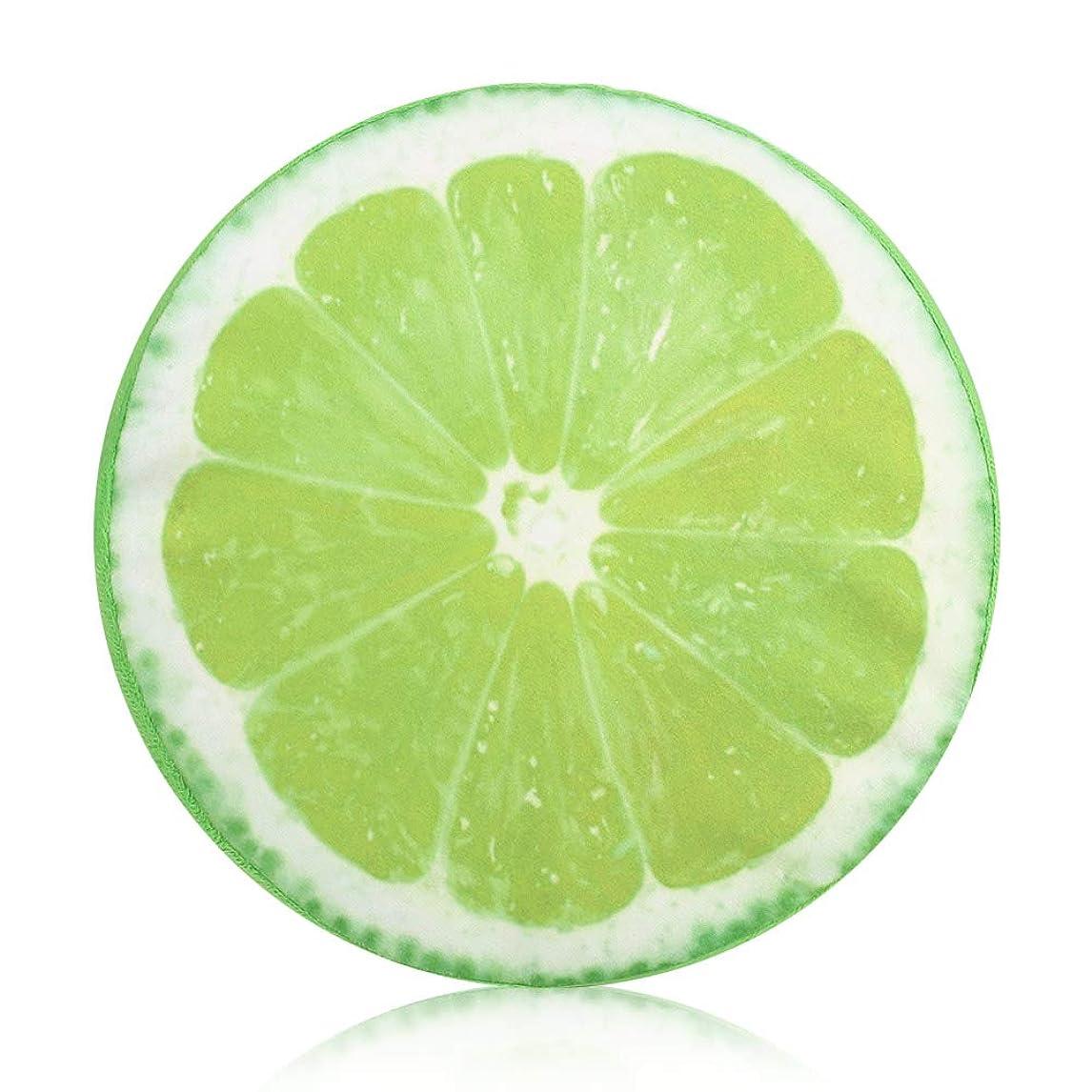 ラップトップ昆虫ナイトスポットフルーツ柄クッション 通気性 洗える 涼しい クッション ヌードクッション 座布団 低反発 32*32CM,レモン