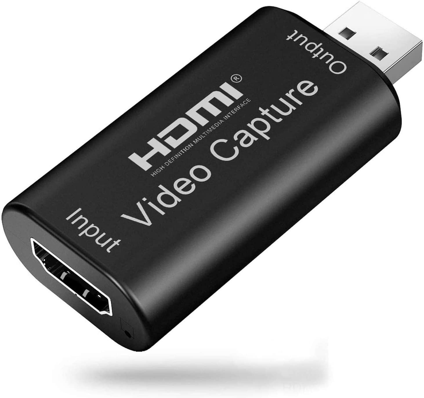 Audio Video Capture Card HDMI to USB High Definition 1080p USB 2.0 Record via DSLR Camcorder Action Cam Computer for Gaming, Streaming, Teaching, Video Conference or Live Broadcasting