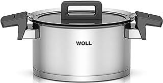 Woll 120NC Concept Olla de Acero Inoxidable para cocinas de inducción, diámetro 20 cm, 11 cm de Alto, 3,4 litros multifunción con Tapa en Caja