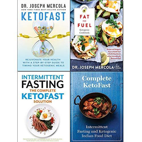 Fat for Fuel Ketogenic Cookbook [Hardcover], KetoFast Rejuvenate Your Health [Hardcover], Complete KETOFAST Solution Intermittent Fasting 4 Books Collection Set