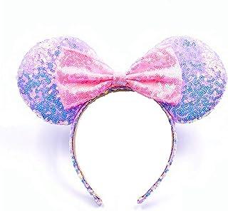 Disney Princesses Adjustable Headband Jasmine Belle  Cinderella Rapunzel teens bow adjustable headband  cotton fabric girls tweens