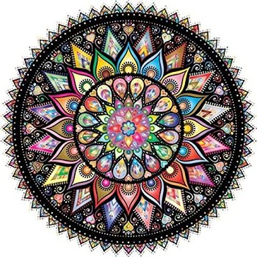 JHGAA Rompecabezas 1000 Piezas Rompecabezas Circulares clásicos Rompecabezas de 1000 Piezas para Adultos 67.5x67.5cm