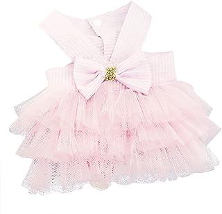 Sponsored Ad - Clopon Pet`s Cute Halter Bowknot Tutu Dresses Puppy Girl Dog Costumes Cute Doggie Cat Apparel