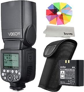 Godox V860II-C E-TTL II - Cámara Digital inalámbrica de Ion de Litio para Canon EOS 6D 7D 60D 70D 5D Mark II 5D Mark III 500D 550D 600D 650D
