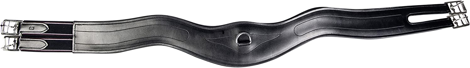HKM 1164/Curved Leather Saddle Girth