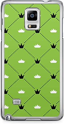 Floral Samsung Note 4 Transparent Edge Case - Green Black and White