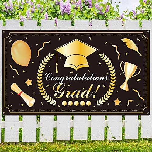 2021 Graduation Banner Hanging Decoration Extra Large 78 8 x40 3 Graduation Party Porch Sign product image