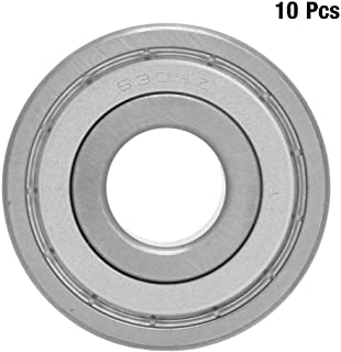 Deep Groove Ball Bearings 10pcs ZZ Type Double-Sided Sealing Ball Bearings Made of Bearing Steel Material, Low Frictional Resistance and High Speed