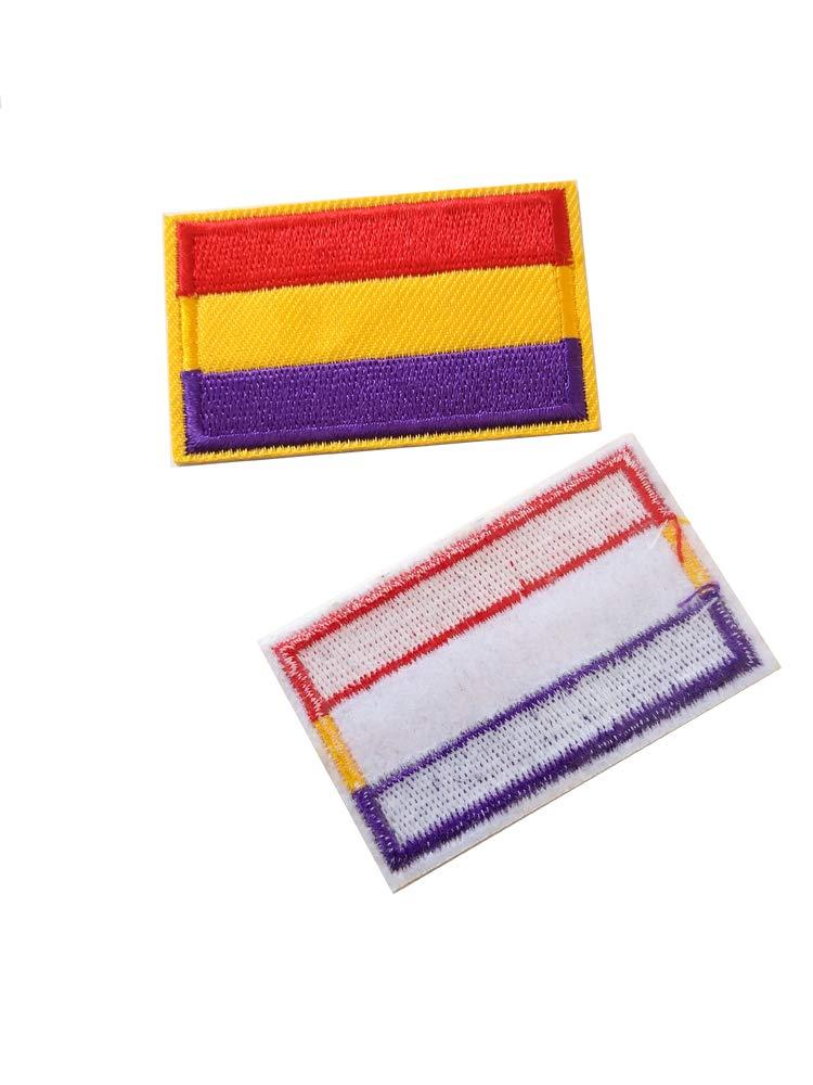 Parche 2 unidades Parches Termoadhesivo Bandera Republicana Sin Escudo: Amazon.es: Hogar