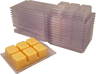 25 Coo Candles 6 Cavity Clamshell Molds for Wickless Wax Melt Candles (25)