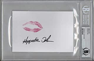 HYAPATIA LEE SIGNED 4x6 INDEX CARD + LIP PRINT XXX PORN ADULT LEGEND BECKETT BAS