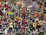 SBS Lot de Stickers Super Héros, Héros Chibi, Enfant, Logo, Personnages Marvel, DC Comics, Avengers, Dessins Animés, (20)