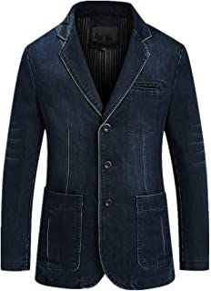 NOBRAND Men's Casual Suit Men's Jeans Blazer Slim Jacket Large Coat