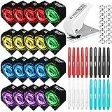 CyeeLife Perforadora de dardos + 100 piezas de anillo de metal, accesorios para dardos (punzón + paquete de accesorios)