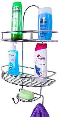 Plantex 5in1 Stainless Steel Multipurpose Bathroom Shelf/Kitchen Shelf/Holder/Bathroom Accessories for Home - Regular