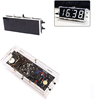 OHTOP Electronic Clock, DIY Digital LED Electronic Clock Kit Learning Board Large Screen with Voice