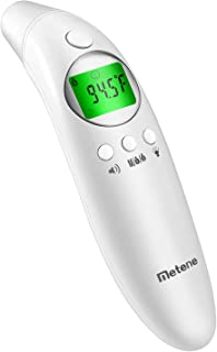 Metene Digital Forehead and Ear Thermometer,Suitable for Baby, Toddler and Adults with Instant Reading and Improved Accuracy-CE and FDA Approved