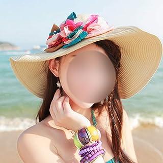 JOYS CLOTHING 広い縁のわらのパナマは女性のための帽子のFedora浜の日曜日の帽子を転がします