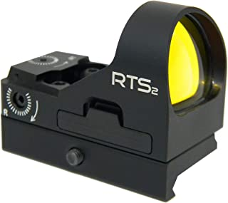 C-MORE Systems RTS2 6 MOA Red Dot Sight with Rail Mount, Black