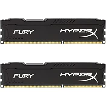 HyperX HX318C10FBK2/16 FURY Black, 16 GB, 1866 MHz DDR3 CL10 DIMM (Kit of 2)