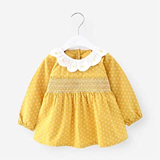 0-4 Years Old Children Cotton Waterproof Anti-dirty Long-sleeved Bib Gown Princess Apron Infant Anti-dress Bib For Infant ...