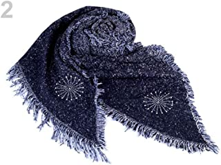 1pc Blue Dark Winter Shawl/Scarf with Tassels and Snowflakes 65x200cm, Shawls Snoods, Shawls, Scarves &, Fashion Accessories